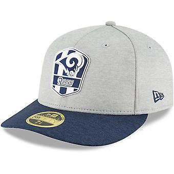 Nieuwe era 59Fifty Cap - zijlijn weg Los Angeles LP Rams