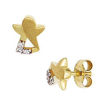 Children earrings Angel 333 Gold Yellow Gold 6 cubic zirconia's earrings, children's jewellery