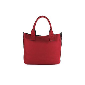 PINKO BURGUNDY CANVAS CRESTOSO MEDIUM SHOPPER