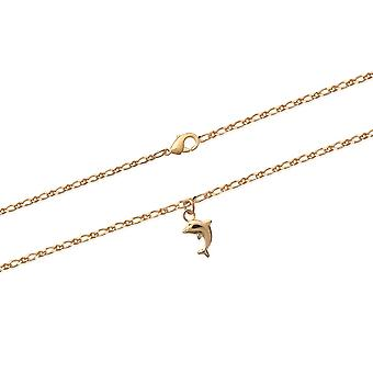 String of ankle Dauphin Plaque in yellow gold