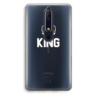 Nokia 6 (2018) Transparent Case - King black