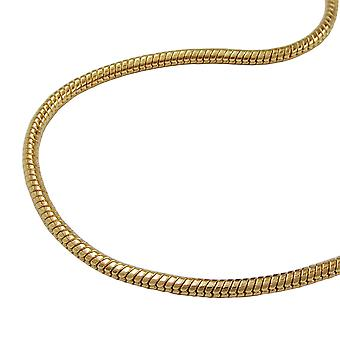 Snake chain 1, 5 mm gold-plated 70cm AMD