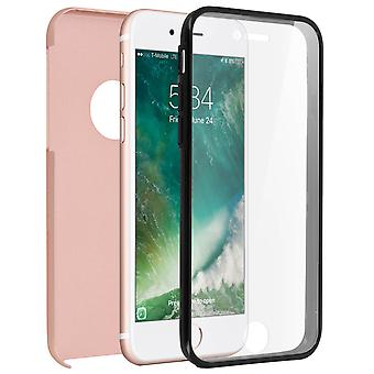Silicone case + back cover in polycarbonate for Apple iPhone 7 / 8 - Rosegold