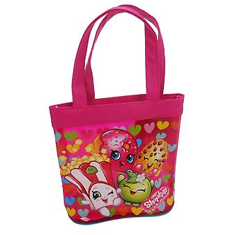 Shopkins mørk rosa tote bag