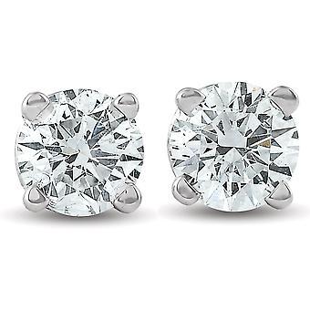 1/4ct Diamond Studs 14K White Gold