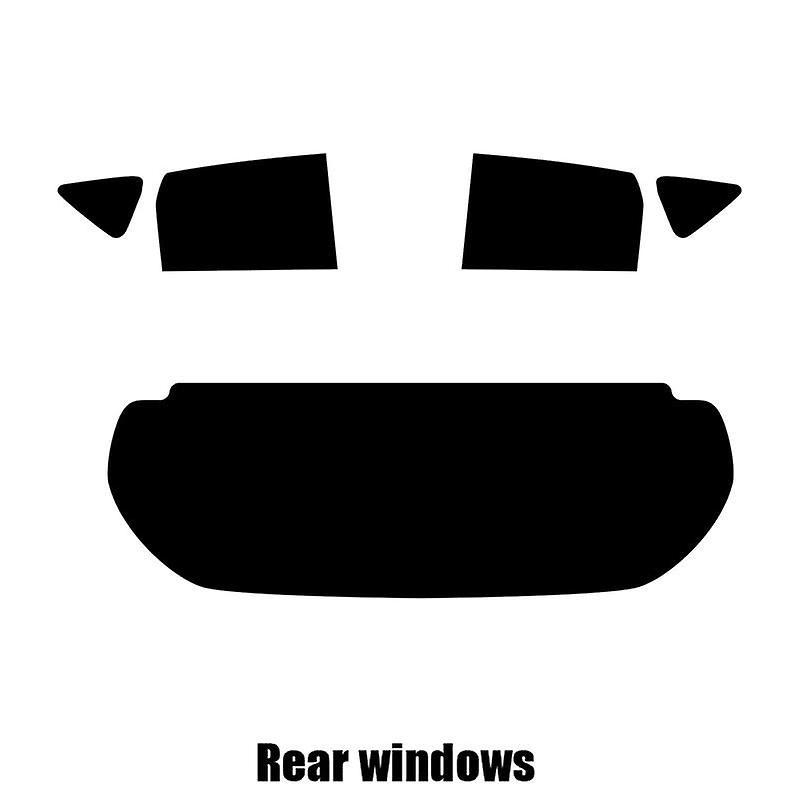 Pre cut window tint - Nissan Note - 2013 and nouveauer - Rear windows