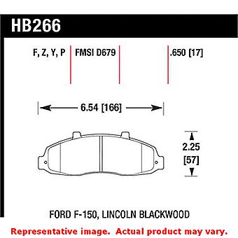 Hawk 'Performance Street' Brake Pads HB266F.650 Fits:FORD 1997 - 1998 F-150  Po