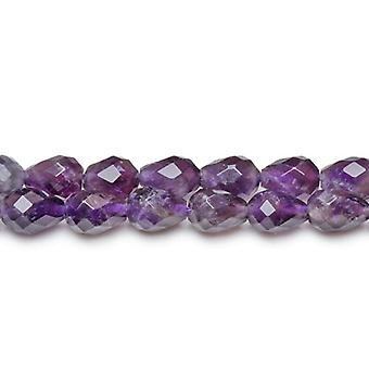 Packet 6 x Purple Amethyst 7 x 10mm Faceted Briolette Beads CB27068
