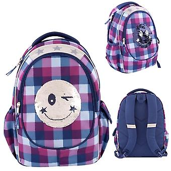 Topmodel Sequins Smiley backpack, school backpack 43 cm