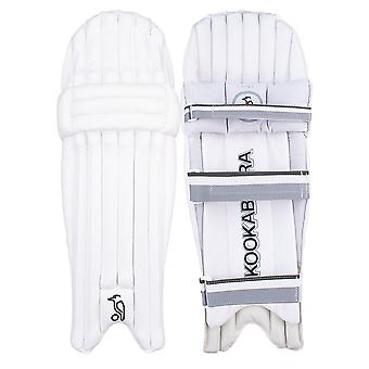 Kookaburra 2019 Ghost 5.0 Cricket Batting Pads Leg Guards White/Grey