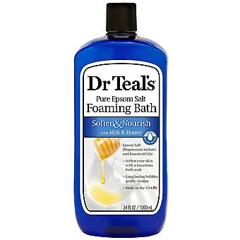 Dr. teal's foaming bath, soften & nourish with milk & honey, 34 oz