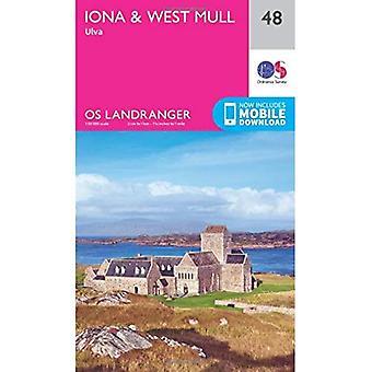 Landranger (48) Iona & ocidental Mull, Ulva (OS Landranger mapa)
