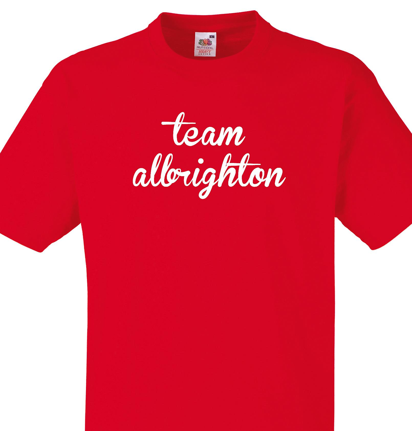 Team Albrighton Red T shirt