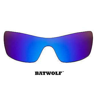 Batwolf Replacement Lenses Polarized Blue Mirror by SEEK fits OAKLEY Sunglasses