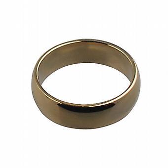 9ct Золотой равнине D формы обручальное кольцо 6 мм шириной размер Z