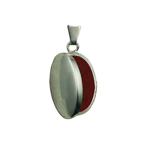 Silver 22x15mm plain oval Locket