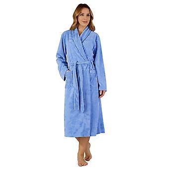 Slenderella HC3307 Women's Woven Robe Loungewear Bath Dressing Gown