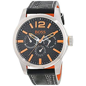 Hugo Boss Orange mens quartz watch 1513228, multi display dial and leather strap