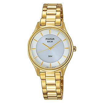 Pulsar ladies analogue watch with metal plated stainless steel PY5022X1