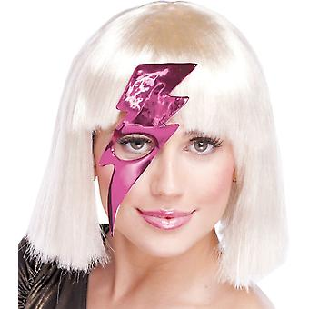 Lightning Bolt Mask Hot Pink For Adults