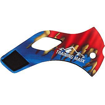 Hoogte opleiding masker 2.0 Super staal - rood/blauw/geel
