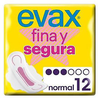 Evax Fine and Safe Normal Compresses with Wings 12 uds