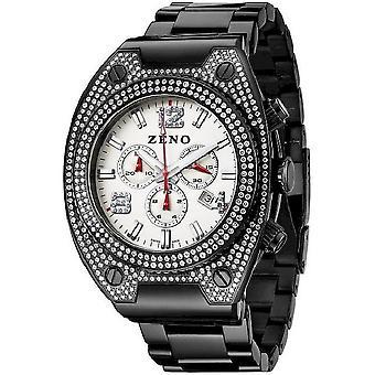 Zeno-watch reloj bling negro 1 Cronógrafo 91026-5030Q-bk-i2M