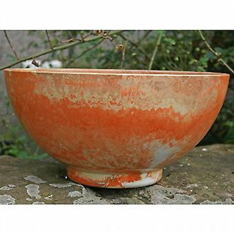 Fibreclay 40cm Aegean Bowl Garden Planter - Golden Sunset