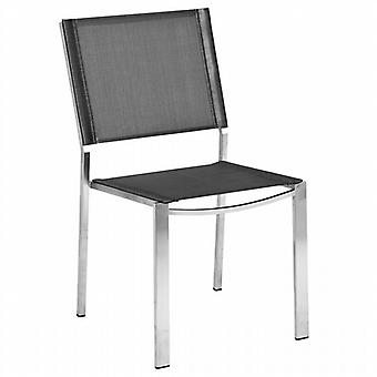 Alexander Rose Cologne Graphite Sling Stacking Sidechair