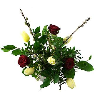 Botanicly - Bouquets | Bunch of Flowers Dreams, yellow/red | Height: 55 cm