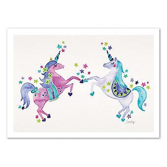 Art-Poster - Pastel Unicorns - Cat Coquillette 50 x 70 cm
