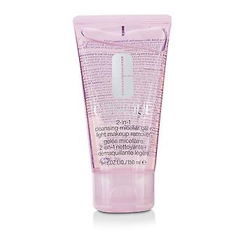 Clinique 2-in-1 Cleansing Micellar Gel + Light Makeup Remover 150ml/5oz