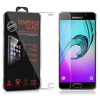 Cadorabo Tank Film for Samsung Galaxy A3 2016 - Protective Film in KRISTALL KLAR - Tempered Display Protective Glass in 9H Hardness with 3D Touch Compatibility