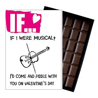 Valentines Day Gift For Violin Musician Wife Girlfriend Funny Boxed Chocolate IF104
