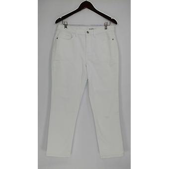 Denim & Co. Damen's Jeans Classic Denim Skinny White A304475