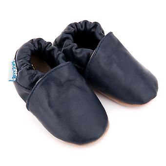 SKEANIE Classic Leather Pre-walker Shoes in Navy Blue