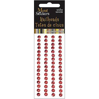 Metallsticker Nailheads 5Mm Runde 64 Pkg rot 38Ms5mm 3865