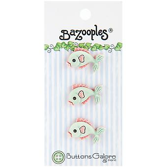 Bazooples Buttons Green Fish Bz 117
