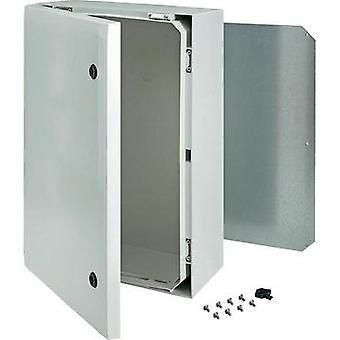 Wall-mount enclosure, Build-in casing 600 x 400 x 210 Polycarbonate (PC) Grey
