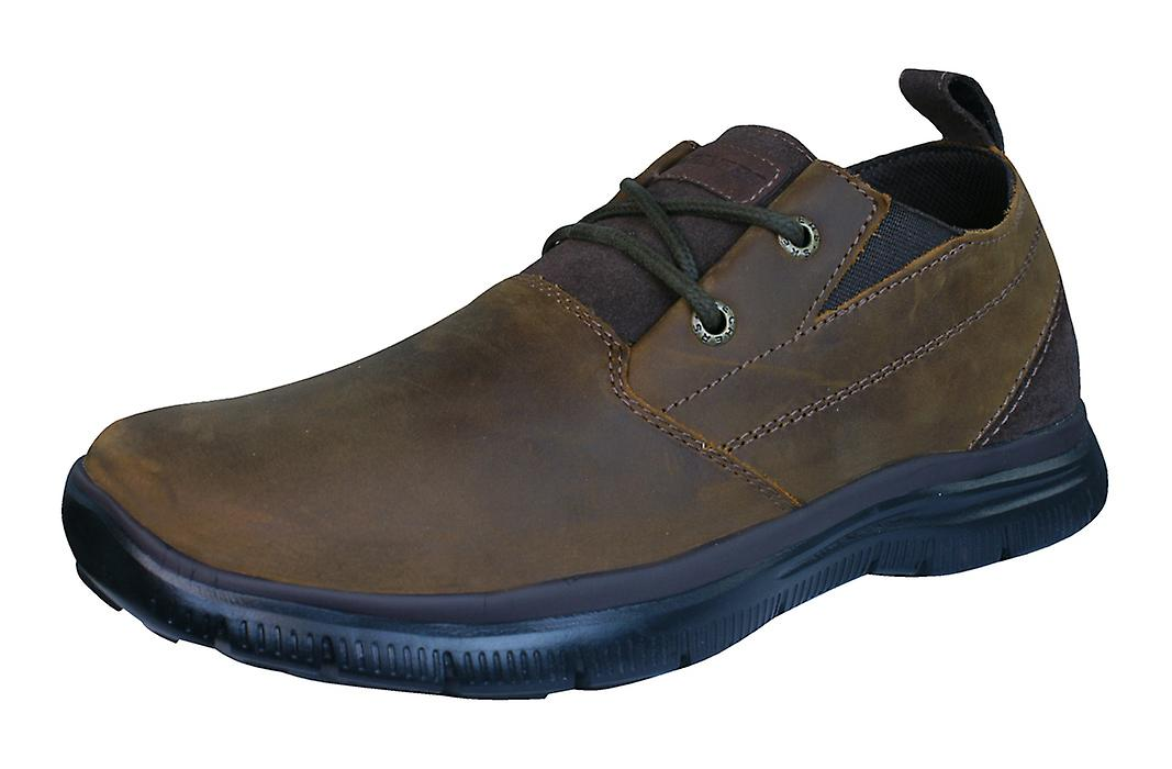 Skechers Hinton Boley Relaxed Fit Mens Leather Shoes - Brown