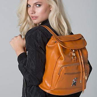 POLAR WHITES FAUX LEATHER TAN BACKPACK o : o