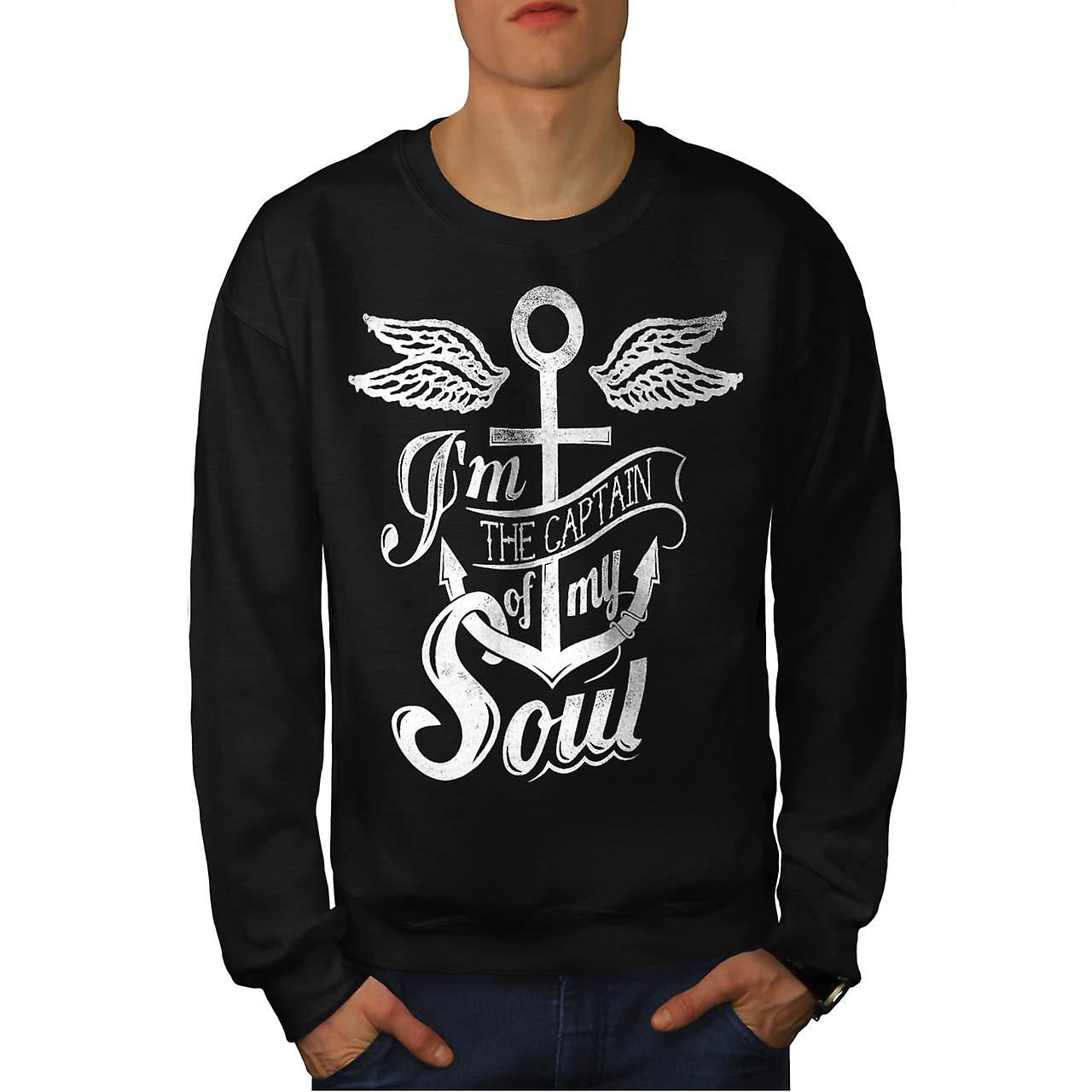 Capitaine de mon rêve vrai Soul Men Black Sweatshirt | Wellcoda