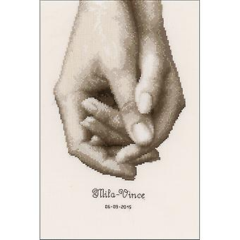 Hand In Hand On Aida Counted Cross Stitch Kit-6.8