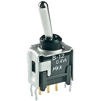 Toggle switch 28 Vdc 0.1 A 1 x On/Off/On NKK Switches B13AP latch/0/latch 1 pc(s)
