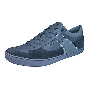 Geox U Box C Mens Leather Trainers / Shoes - Grey