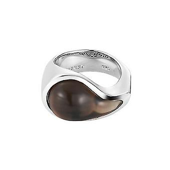 ESPRIT women's ring stainless steel Silver drip drop Brown ESRG11567E1