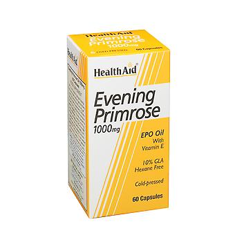 Health Aid Evening Primrose Oil 1000mg + Vitamin E ,  60 caps