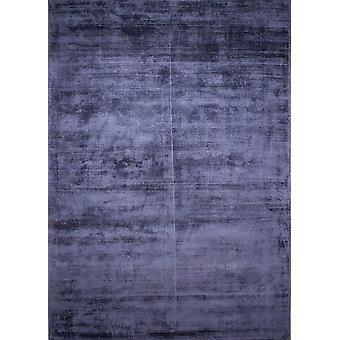 Moderne luksus Viscose Indigo blå tæppe - glans