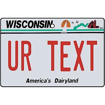 Individanpassade Wisconsin registreringsskylten bil luftfräschare