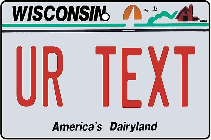 Personalised Wisconsin Numberplate Car Air Freshener
